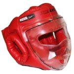 Шлем для единоборств с забралом